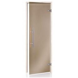 Dvere do sauny Andres LIGHT PREMIUM BRONZ 8x20 osika