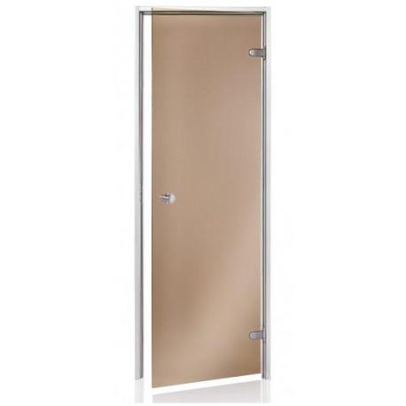 Dvere do parnej sauny Andres scan 7x19 bronz